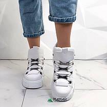 39р Кросівки жіночі білі на платформі, фото 2