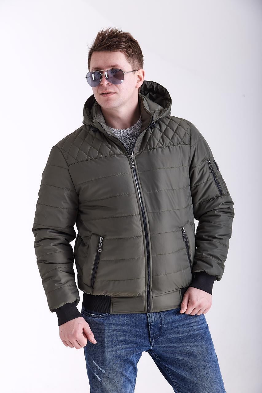 Куртки мужские весна осень короткие    48-58 хаки