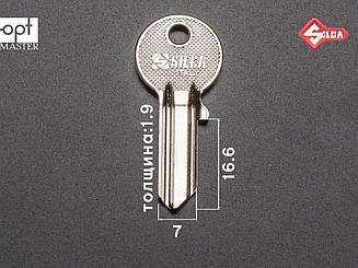 IE5 Silca заготовка ключа английский профиль
