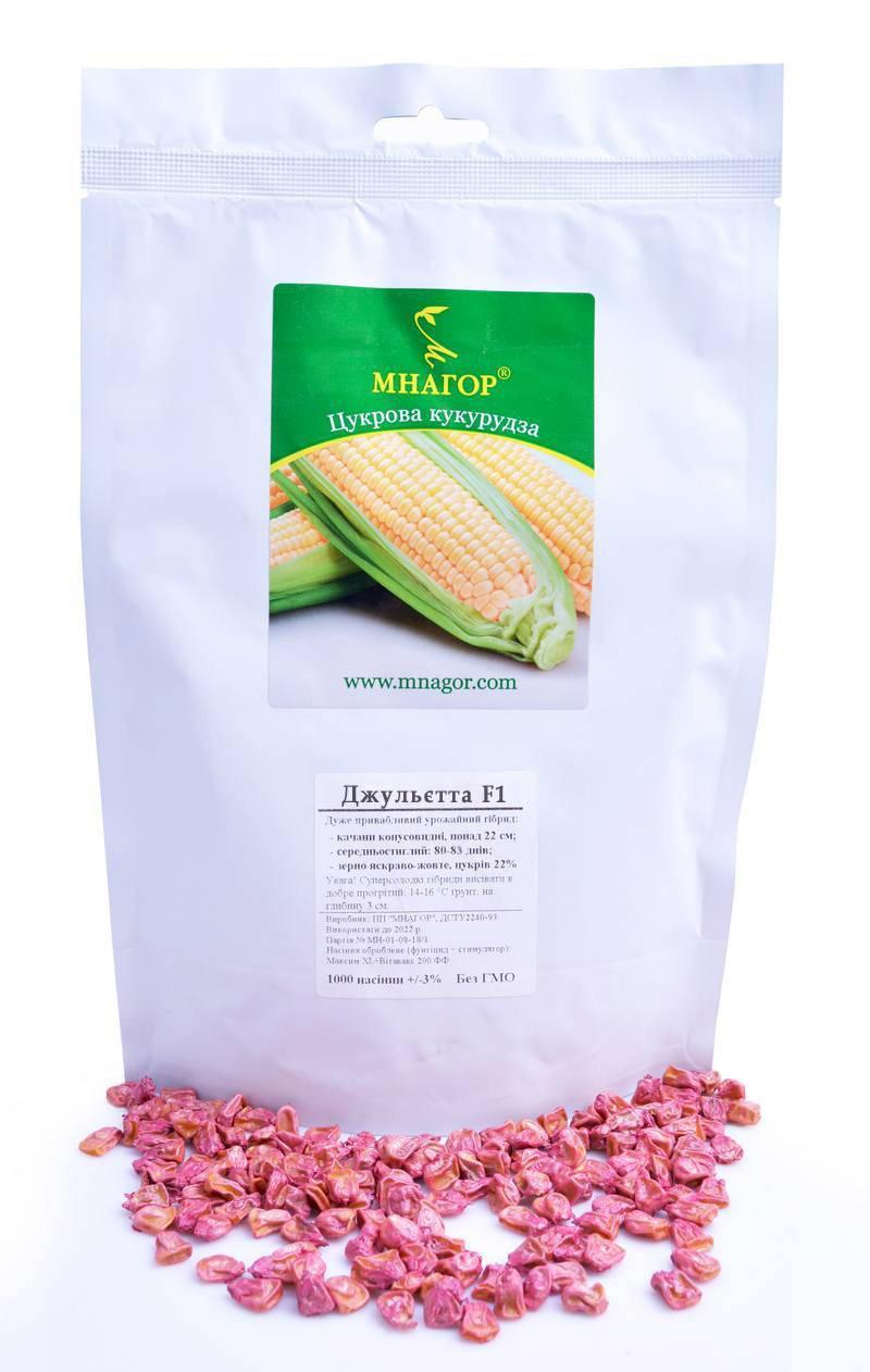 Сахарная кукуруза Джульетта F1, Sh2-тип, 20 000 семян на 30 соток, 80-83 дней