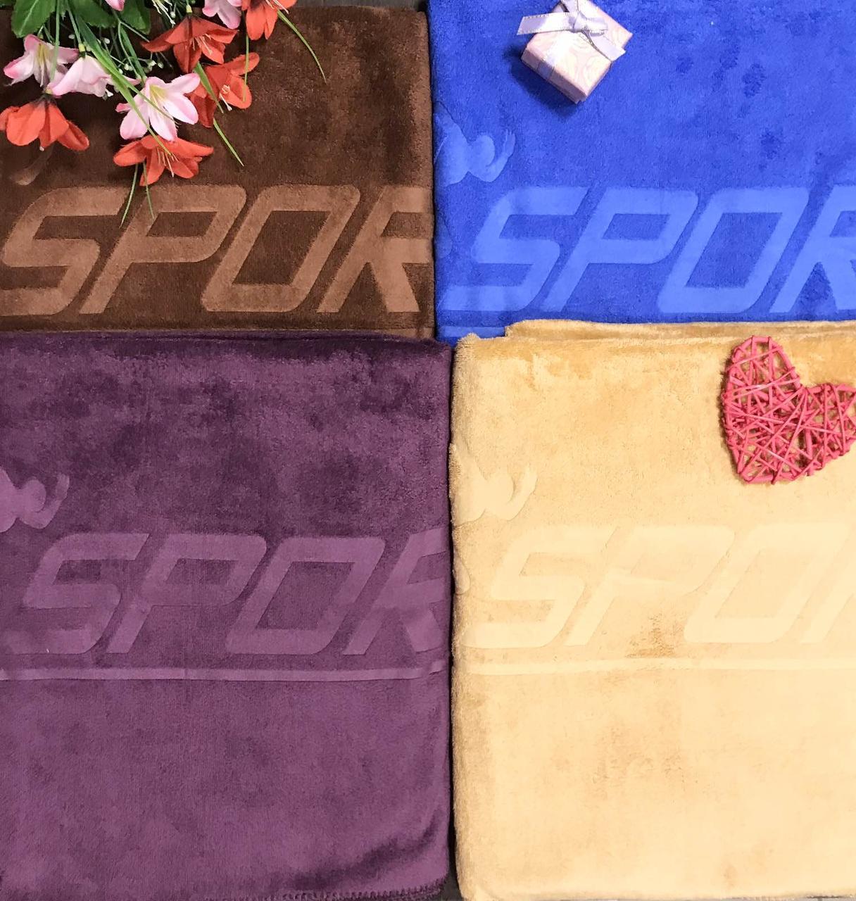 Полотенце из микрофибры для сауны размер 100*160 Sport микс