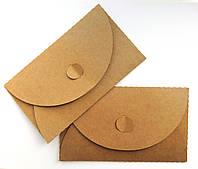 Подарочный конверт из эко крафт-картона 155 х 90 мм + ПОДАРОК (на 200 шт конвертов), фото 1