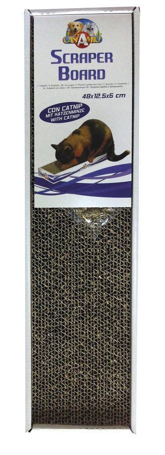 Когтеточка  для кошек CROCI Cardboard, гофрированный картон, 48х12,5х5 см, Croci
