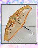 Зонт раскладной оранжевый (аксессуары для кукол), фото 4