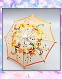 Зонт раскладной оранжевый (аксессуары для кукол), фото 2