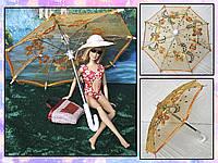 Зонт раскладной оранжевый (аксессуары для кукол), фото 1