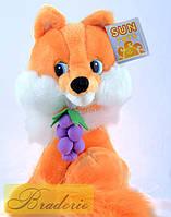 Мягкая игрушка Лиса с виноградом 25 см 1554-1
