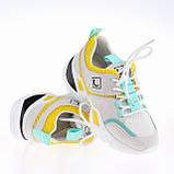 Женские яркие кроссовки Lonza FLM90012 WHITE/YELLOW ВЕСНА 2020 /// F90012, фото 2