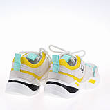 Женские яркие кроссовки Lonza FLM90012 WHITE/YELLOW ВЕСНА 2020 /// F90012, фото 3