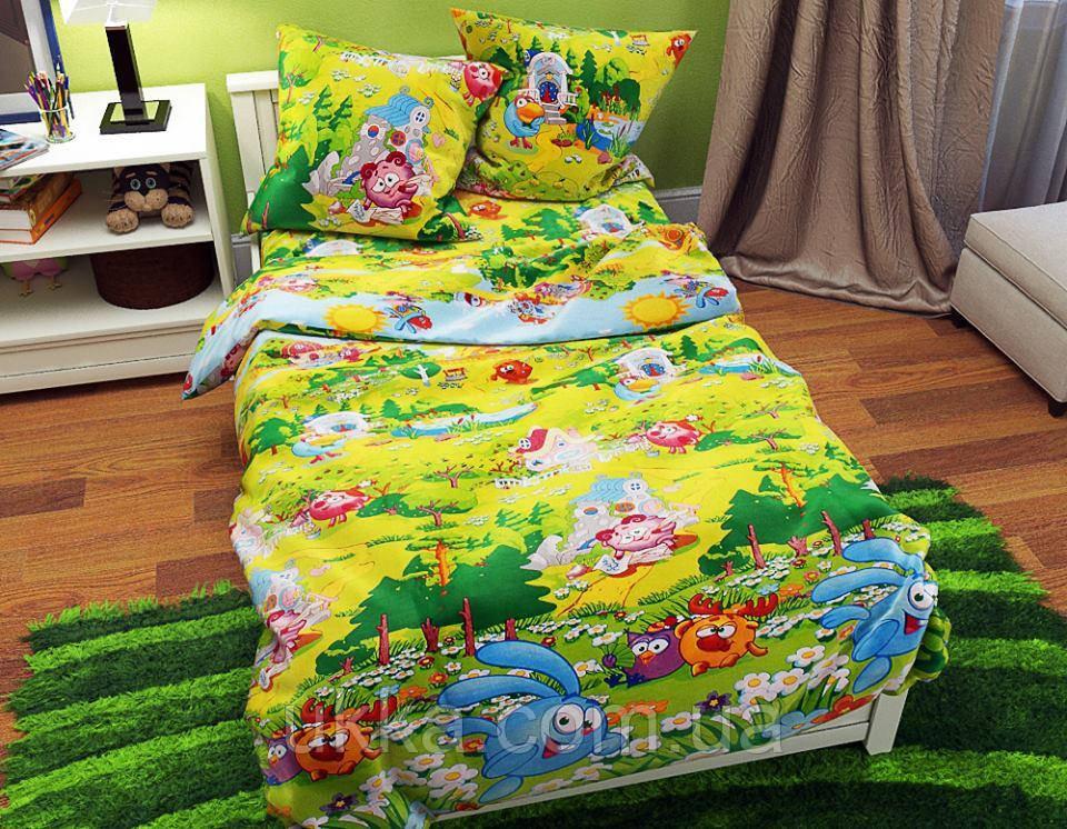 Детское постельное белье полуторное Смешарики комплект подростковый
