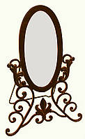 "Зеркало кованное настольное ""Красавица"" (42 см)."