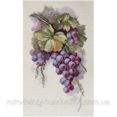 Набір для вишивання хрестом ТМ Мар'я Майстриня 04.009.11 Синій виноград