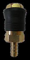 """Быстроразъёмное соединение на шланг 8мм (PROFI) """"AIRKRAFT"""" SE6-3SH"""