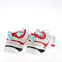 Женские яркие кроссовки Lonza FLM90012 WHITE/RED ВЕСНА 2020 /// F90012 wh+GREEN, фото 1