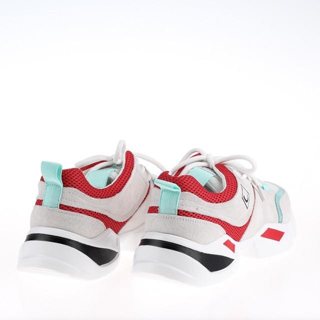 Женские яркие кроссовки Lonza FLM90012 WHITE/RED ВЕСНА 2020 /// F90012 wh+GREEN