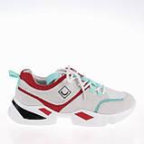 Женские яркие кроссовки Lonza FLM90012 WHITE/RED ВЕСНА 2020 /// F90012 wh+GREEN, фото 2