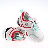 Женские яркие кроссовки Lonza FLM90012 WHITE/RED ВЕСНА 2020 /// F90012 wh+GREEN, фото 3