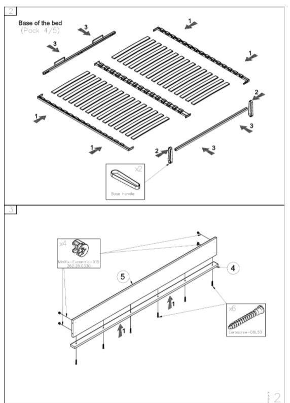 Кровать двуспальная Честер MW1600 (Embawood) схема (2)