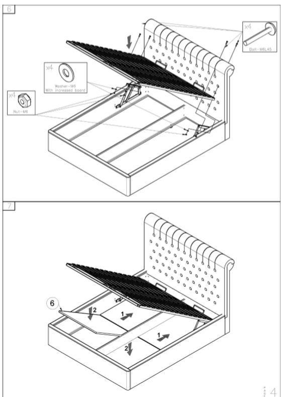 Кровать двуспальная Честер MW1600 (Embawood) схема (4)