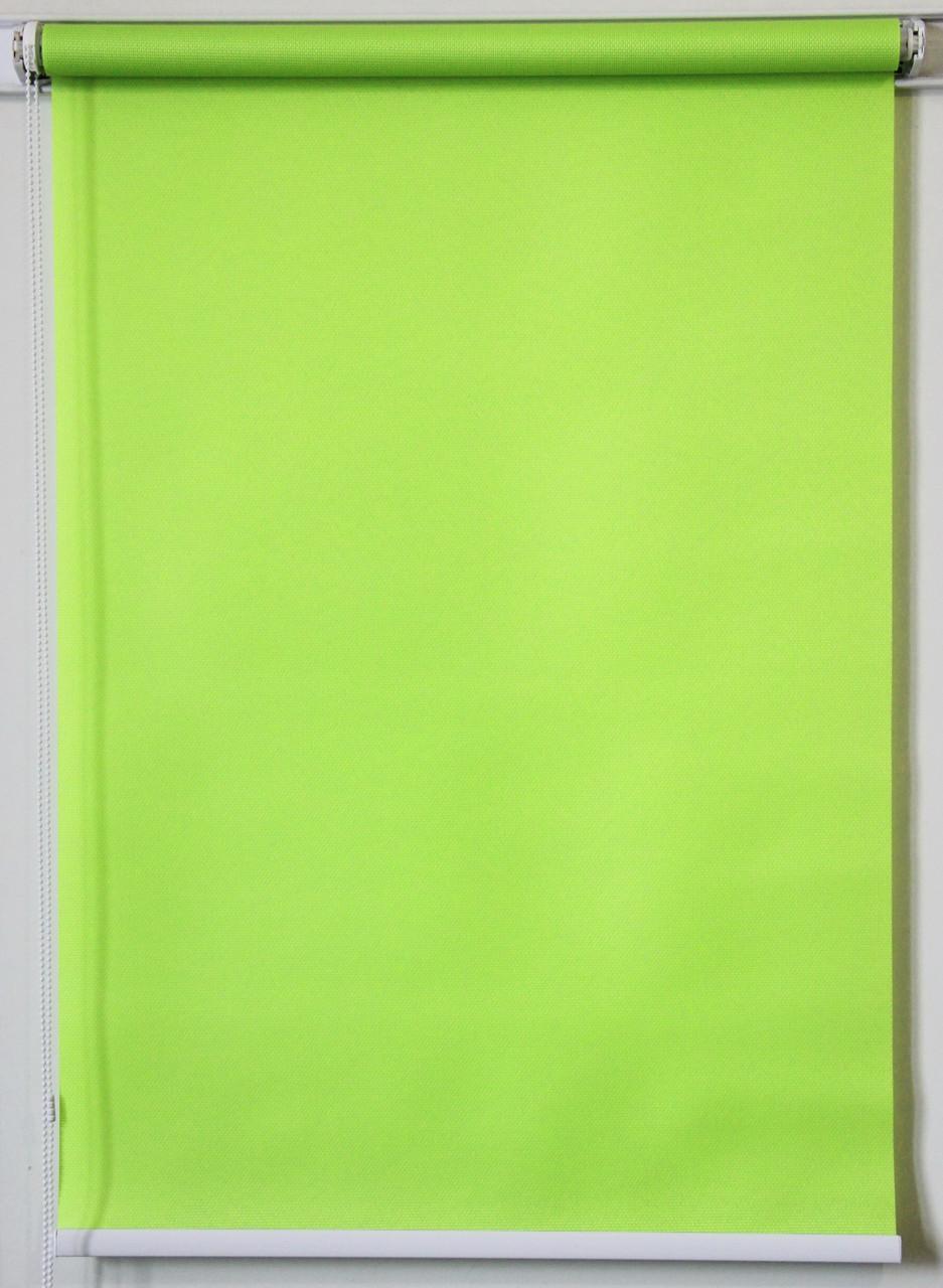 Готовые рулонные шторы Ткань Роял Салатовый 1125*1500