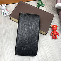 Стильный мужской кошелек на молнии Louis Vuitton черный Премиум Качество клатч Брендовый Louis Vuitton реплика, фото 1