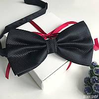 """Мужская бабочка  """"Ровенна"""" в подарочной коробке, черный., фото 1"""