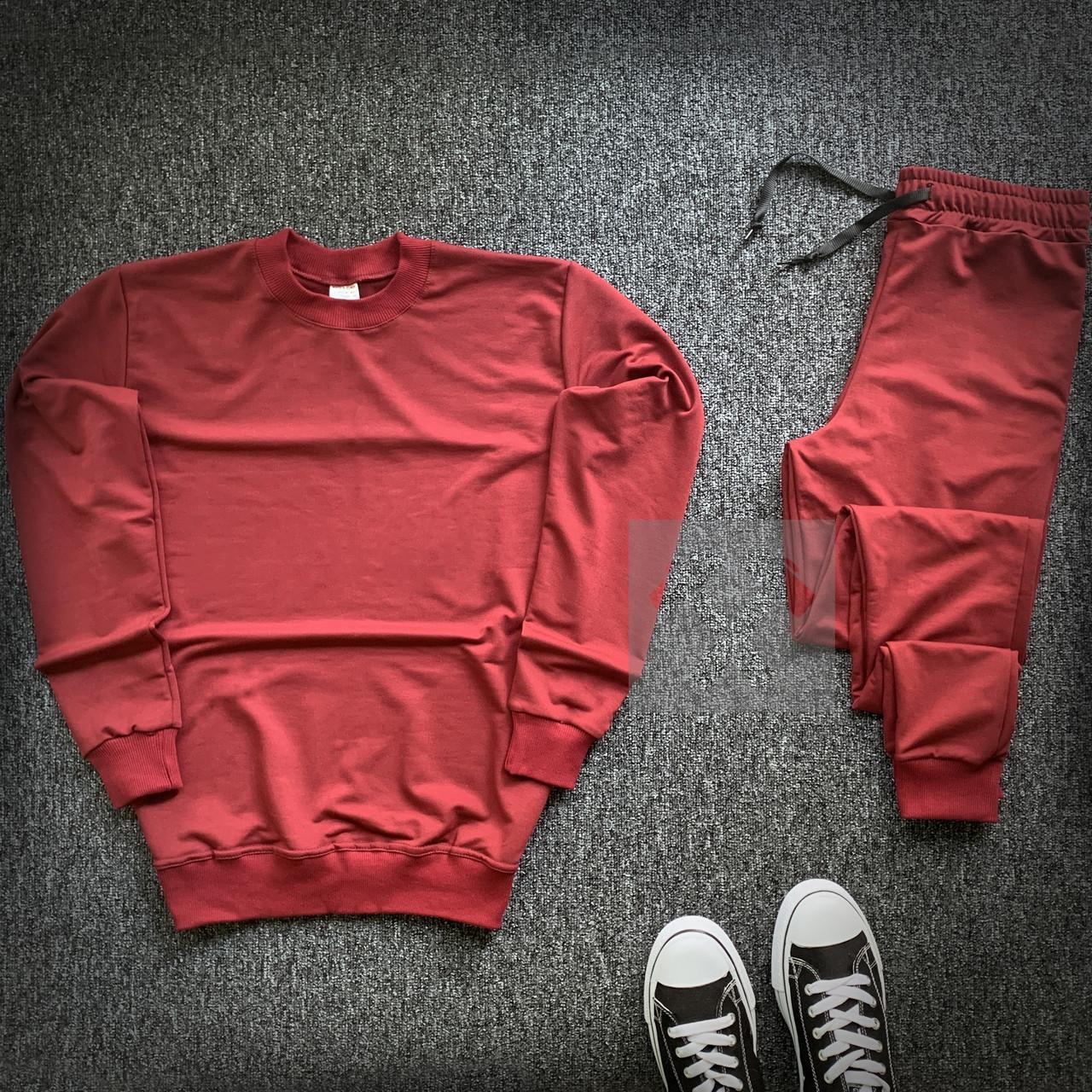Спортивный костюм красный со свитшотом