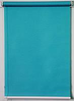 Готовые рулонные шторы Ткань Роял Аквамарин 875*1500