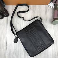Стильная сумка планшетка Bikkembergs черная Качество женская сумка через плечо Трендовая Биккемберг реплика