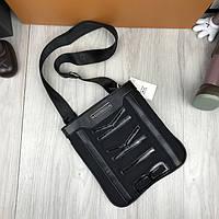 Модная сумка планшетка Bikkembergs черная Люкс Качество женская сумка через плечо Трендовая Биккемберг реплика, фото 1