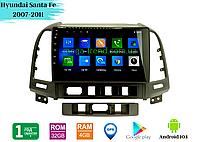"Штатная магнитола Hyundai Santa Fe 2007-2011 (9"") Android 10.1 (4/32), фото 1"