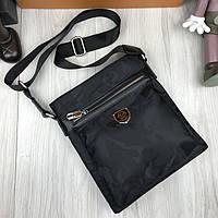 Брендовая мужская сумка планшетка Philipp Plein черная Качество сумка через плечо VIP Филипп Плейн реплика