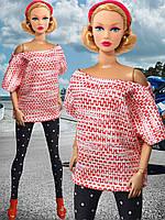 Одежда для кукол Барби - туника и лосины, фото 1