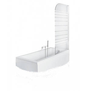 Шторка для ванни Ambition-1 75x130 Besco, матові смуги