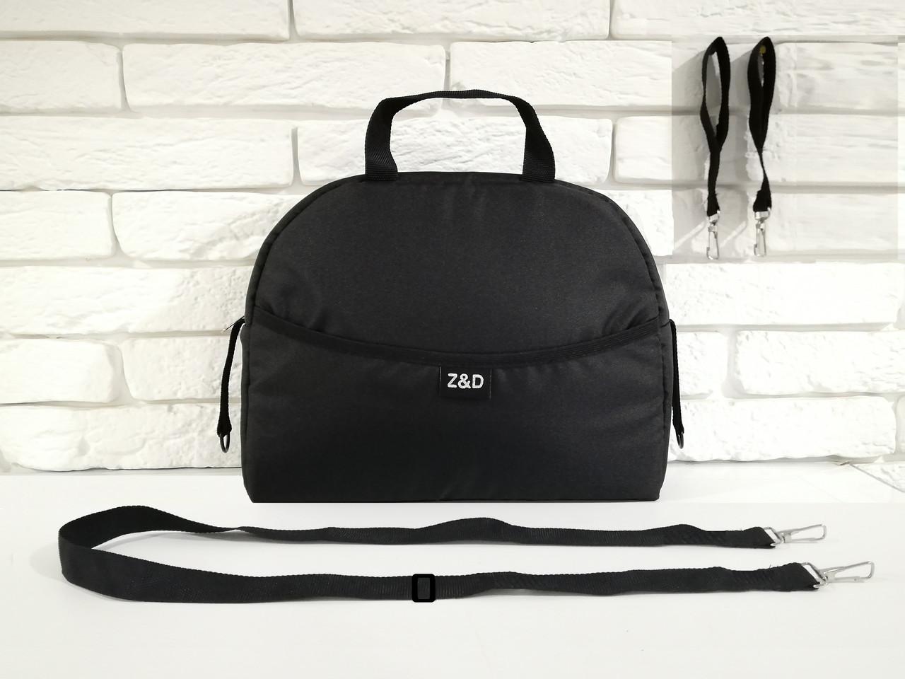 Сумка на коляску универсальная Z&D New с ручкой (Черный)
