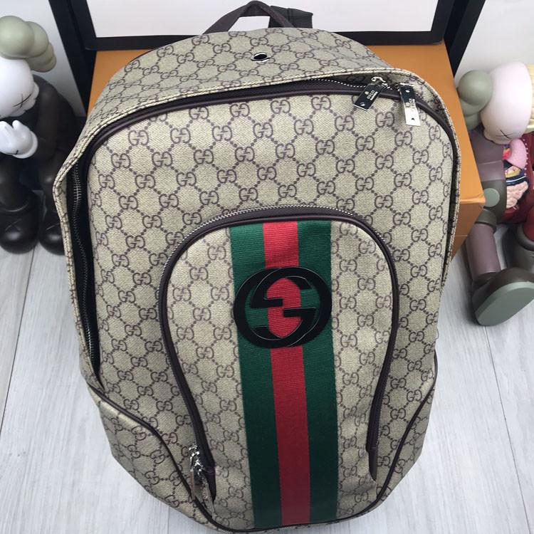 Брендовый женский рюкзак Gucci коричневый Премиум Качество портфель Новинка 2019 года Стильный Гуччи реплика