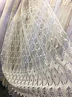 Тюль на фатиновой основе с бархатистой вышивкой (Sonil)