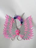 Крила єдинорога і обруч Єдиноріг Прикраса для волосся рожевий, фото 6