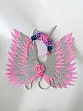 Крила єдинорога і обруч Єдиноріг Прикраса для волосся рожевий, фото 5