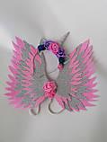 Крила єдинорога і обруч Єдиноріг Прикраса для волосся рожевий, фото 4