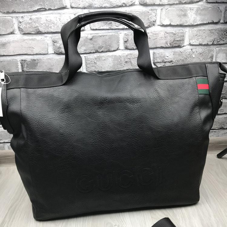 Брендовая дорожная сумка Gucci черная Премиум Качество сумка Стильная Новинка 2019 года Гуччи реплика