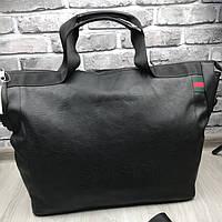Брендовая дорожная сумка Gucci черная Премиум Качество сумка Стильная Новинка 2019 года Гуччи реплика, фото 1