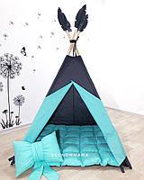 """Детский вигвам , домик, палатка для игры """"Домик Тиффани  """" , четырехгранный"""
