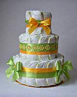 Торт из памперсов Libero 60 штук. Подарок новорожденному на выписку