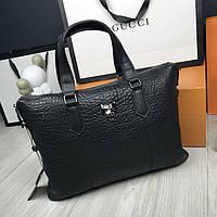 Кожаная женская сумка мессенджер Philipp Plein черная натуральная кожа сумка на плечо Филипп Плейн реплика