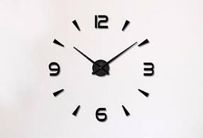 3D настенные часы арабские/полосы Black от 50 до 70 см цвет черный (ZH534-B)