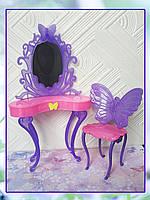 Мебель для кукол - столик с зеркалом и стул, фото 1