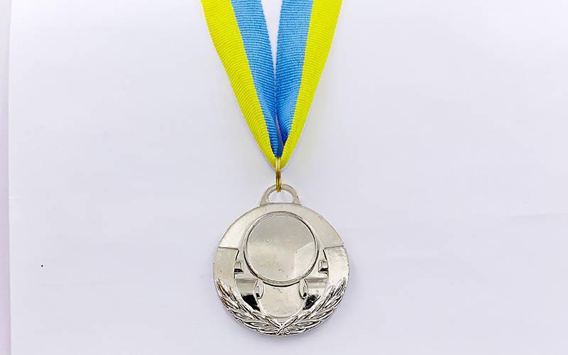 Заготовка медали спортивной с лентой AIM d-5см (металл, 25g, 1-золото, 2-серебро, 3-бронза) Серебряный PZ-C-4846_1