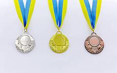 Заготовка медали спортивной с лентой AIM d-5см (металл, 25g, 1-золото, 2-серебро, 3-бронза) Серебряный PZ-C-4846_1, фото 2