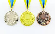 Заготовка медали спортивной с лентой RESULT d-6,5см (металл, 30g, 1-золото, 2-серебро, 3-бронза) PZ-C-4331, фото 2